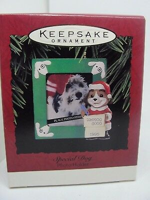1995 Special Dog Photo Holder,  Hallmark Keepsake Ornament