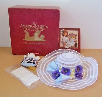 American Girl Nellie Meet Accessories New in Box Hat, Purse, & Hankie ONLY