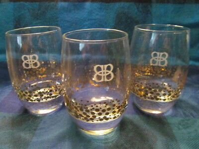 Birks, Canada. Signed Bb Gold Atomic Dot Glasses (3) - Vgc