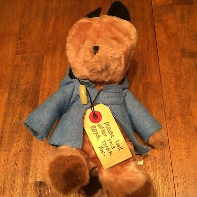 1975 Eden Paddington Bear Sewn In Haiti Darkest Peru To London England Tag