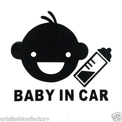 Baby in Car Baby Safety Sign Car Vinyl Sticker Window Decal Decor (Set of 2)