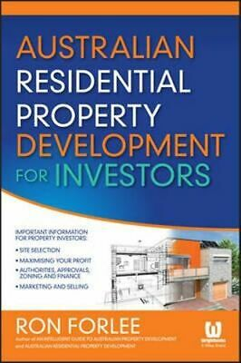 NEW Australian Residential Property Development for Investors By Ron Forlee