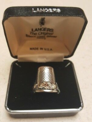 Sterling Silver Thimble - Langers Black Hills Silver