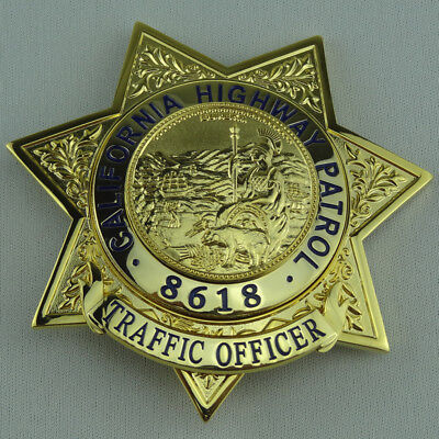 US California Highway Patrol Traffic Props Collection Badge Cosplay For Fun