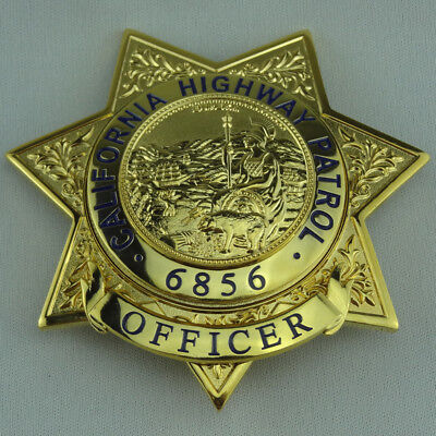 US California Highway Patrol Props Collection Badge Cosplay For Fun