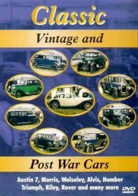 Classic Vintage And Post War Cars [DVD] - DVD  X8VG The Cheap Fast Free Post