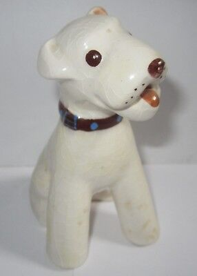 Vtg DeLee Art Pottery Dog Fox Terrier Jack Russell California Mid Century Modern