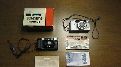 Lot of 2 VTG  Canon Cameras Sure Shot Supreme 35MM and Sure Shot Z85 Untested