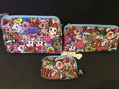 NWT Jujube Tokidoki Tokipops Toki Pops TP Be Set Be Sets BS 3 pouches