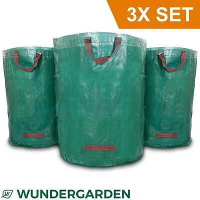 Wundergarden© - Large XL garden waste bags in sets of 3 made from robust PP for