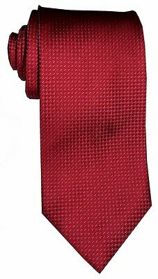 $285 NEW BRIONI RED w TINY WHITE & GRAY NEAT DOTS HANDMADE SILK MENS NECK TIE