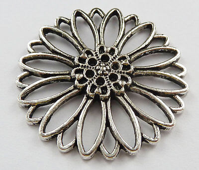 free shipping 20pcs tibet silver flower Charms 34mm