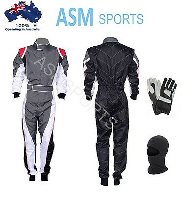 Go Karting Suit with Free Gloves and Balaclava