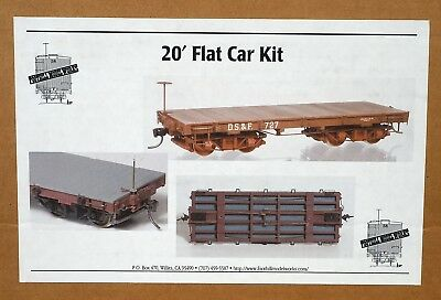 On30 Foothill Model Works 6/pack 20' Flat Cars NIB #FMW-2326/6