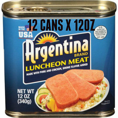 12 ARGENTINA BRAND LUNCHEON MEAT 12oz ~ ON SALE NOW !