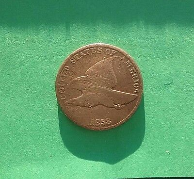 1858 US Flying Eagle One Cent , Large Letters