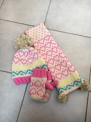 Marks And Spencer girls Hat, Scarf And Gloves Set Age 18-36 Months