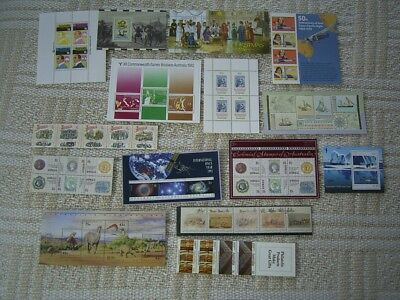 AUSTRALIA MINT MINIATURE SHEETS AND STAMP STRIPS x 15 AT LESS THAN 50p AN ITEM