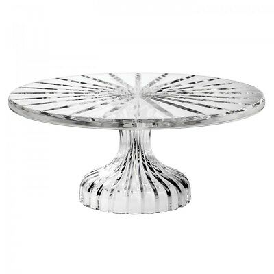 BNIB Brand New In Box Marquis By Waterford Bezel Footed Cake Plate Clear Crystal