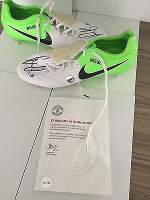 Manchester United Offical Signed Boots Danny Welbeck Match  Issued Club Coa Rare