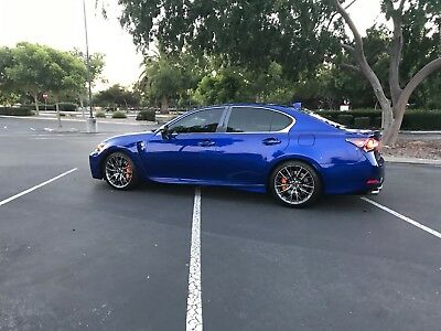 2016 Lexus GS GS F V8 Lexus GS F V8 5.0L Ultrasonic Blue over Red Interior Rare, Apex n1, Clear bra