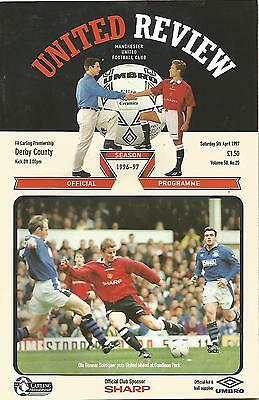 Football Programme - Manchester United v Derby County - Premiership - 5/4/1997