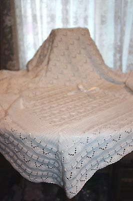 PRETTY Delicate Knit Baby Doll Blanket For Reborn WHITE Matches Outfit I Sell