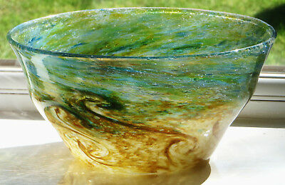 Art Deco Scottish MONART Glass Bowl