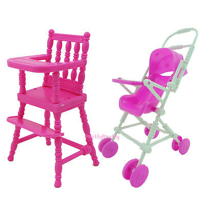 Children Trolley Chair Furniture Accessories For Barbie Kelly Doll Kid Toy Gift