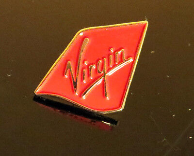 Pin VIRGIN ATLANTIC logo Pin for Pilots Crew red/gold metal pin