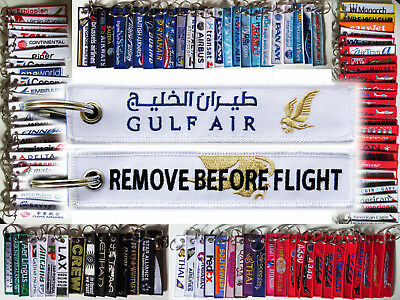 Keyring GULF AIR Remove Before Flight tag for Crew Pilot