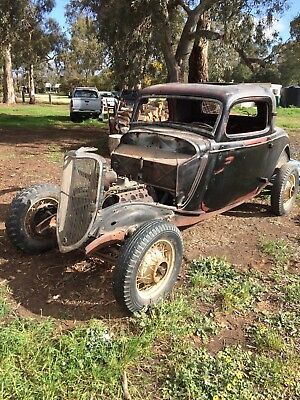 1934 ford 3 window coupe hot rod rat rod original USA