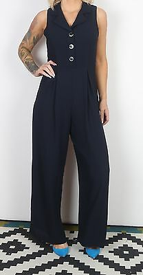 Jumpsuit UK 10 Small  All in one 1980's Vintage  80's (65B)
