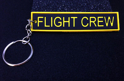 Keyring FLIGHT CREW tag PVC for Crew Pilot