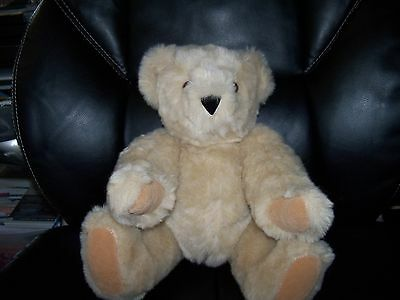 """The Vermont Teddy Bear Tan 16"""" Jointed Bear March 2010 NEW  HTF"""