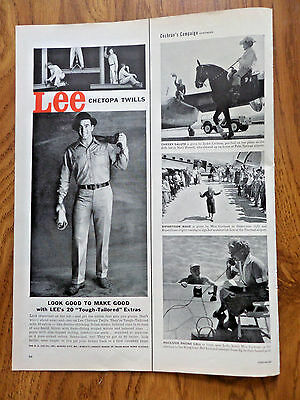 1956 Lee Work Ad Lee Chetopa Twills