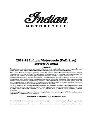 DIGITAL Indian Chief motorcycles 2014 2015 2016 service manual