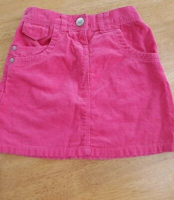 Next girls pink cord skirt aged 5-6 years worn once