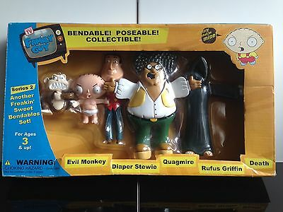 Rare Family Guy Bendable Collectable NJ Croce 5 Figure Set - Series 2 *New*