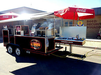 Hot dog cart vending concession stand trailer Ultimate Tailgate Trailer