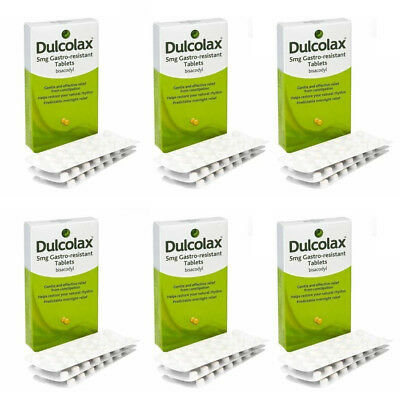 Dulcolax 5mg Bisacodyl Laxatives Tablets for Constipation - Multibuy