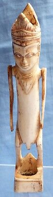 Very Unusual 18Th/19Th Century South East Asian(?) Bone Figure W/ Moveable Arms