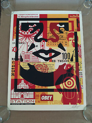 Shepard Fairey Face Collage #1 Signed Offset Litograph OBEY GIANT