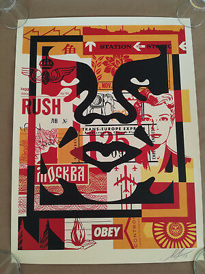 Shepard Fairey Face Collage #2 Signed Offset Litograph OBEY GIANT