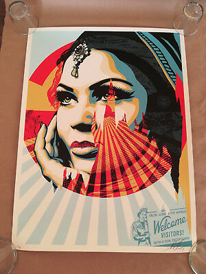 Shepard Fairey TARGET PRACTICE Signed & Numbered Litograph OBEY GIANT NEW 2017