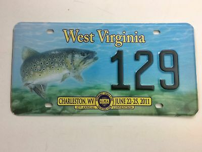West Virginia 2011 Trout Old License Plate Garage Special Event Tag Alpca Conven