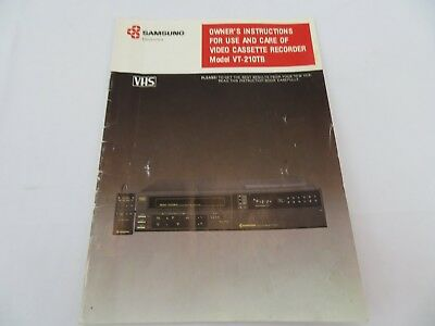 Samsung VT-210TB Video Cassette Recorder Manual