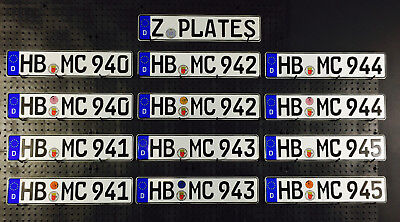 German License Plate - Bremen Germany - New with Seal for Mini Cooper