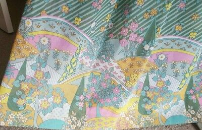 Vintage 1970s Maxi Skirt, Green Psychedelic Pattern