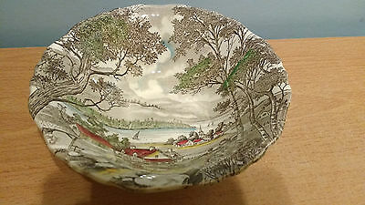 "Lovely J & G Meakin Sol ""Welcome Home"" 21cm Bowl. Excellent Condition."